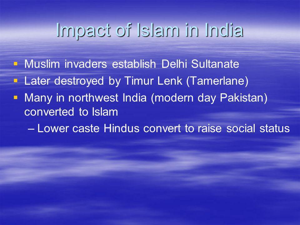 Impact of Islam in India
