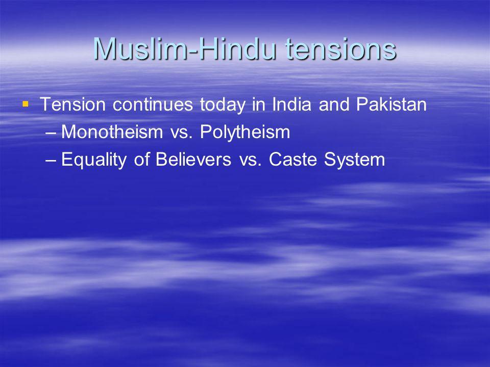 Muslim-Hindu tensions