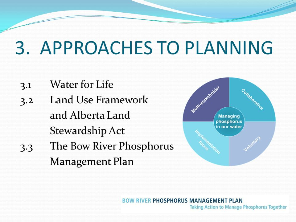 3. APPROACHES TO PLANNING