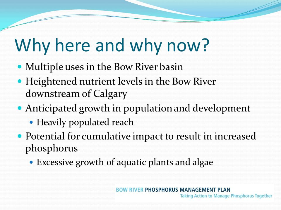 Why here and why now Multiple uses in the Bow River basin