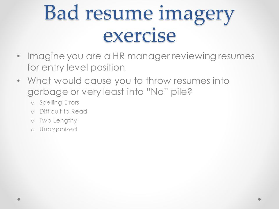 Writing The Effective Resume - PowerPoint PPT Presentation