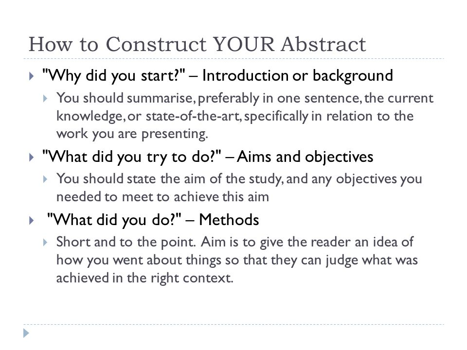 academic writing writing an abstract