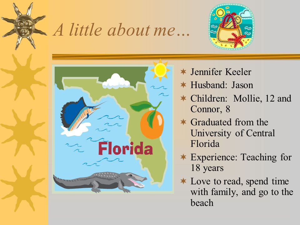 A little about me… Jennifer Keeler Husband: Jason