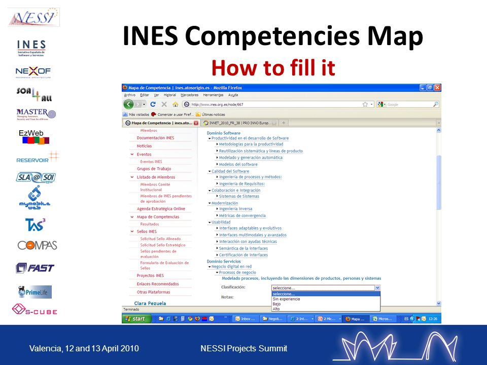 INES Competencies Map How to fill it