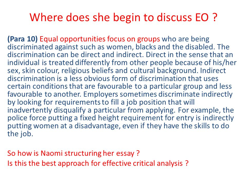 equality essay example