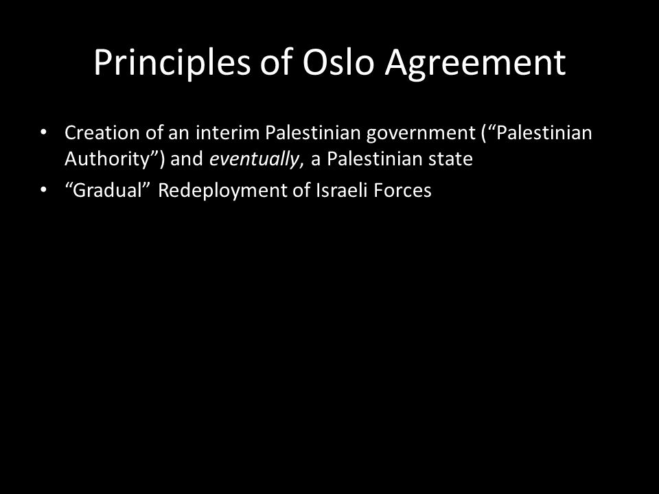 Principles of Oslo Agreement