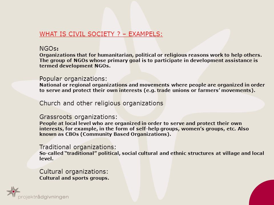 WHAT IS CIVIL SOCIETY .