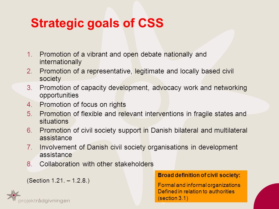 Strategic goals of CSS Promotion of a vibrant and open debate nationally and internationally.