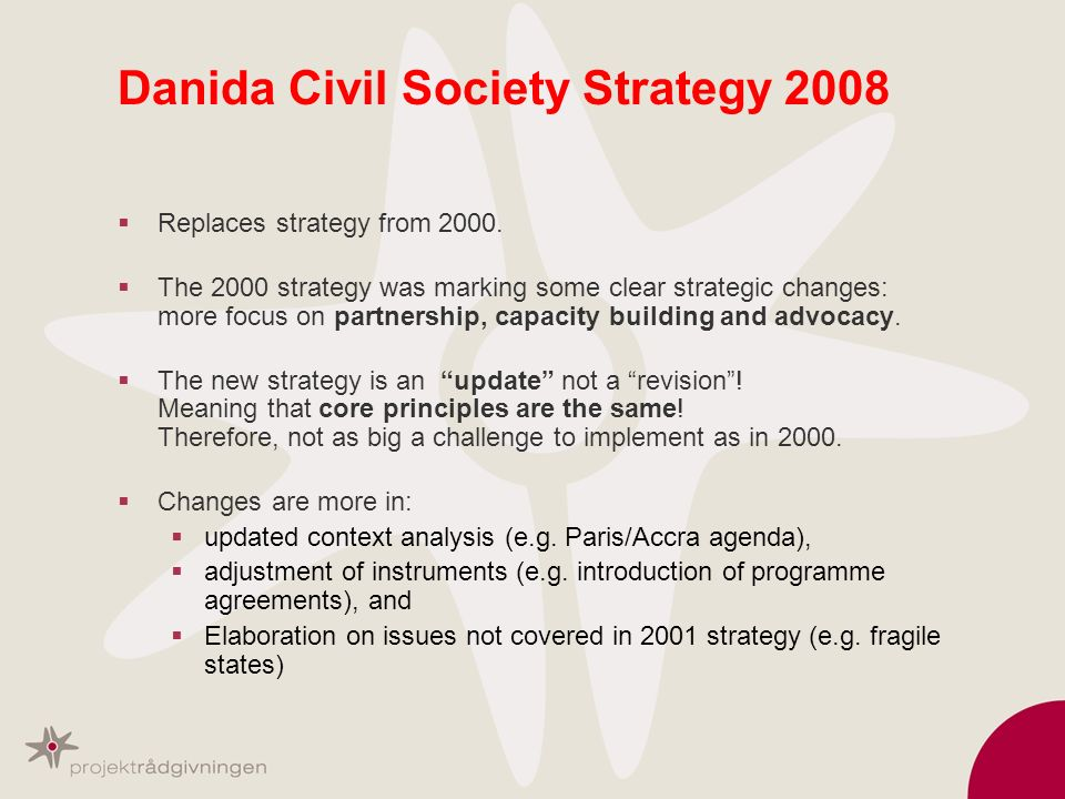 Danida Civil Society Strategy 2008