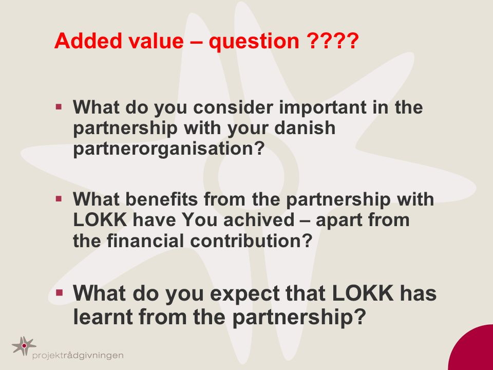 What do you expect that LOKK has learnt from the partnership