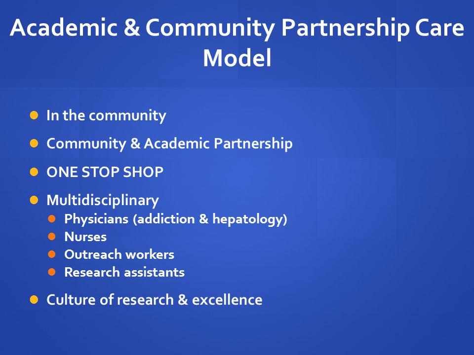 Academic & Community Partnership Care Model