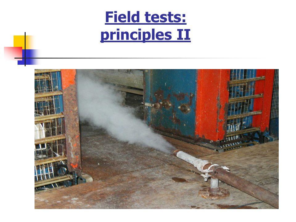 Field tests: principles II