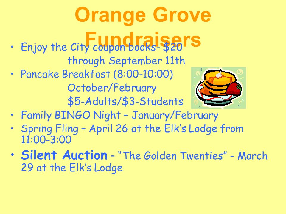 Orange Grove Fundraisers