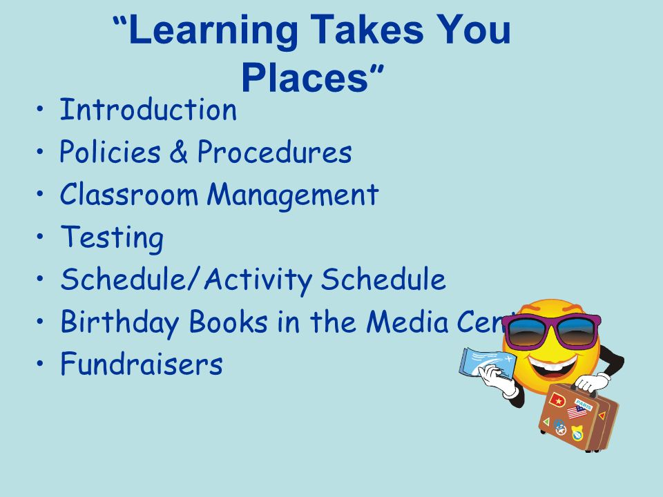 Learning Takes You Places