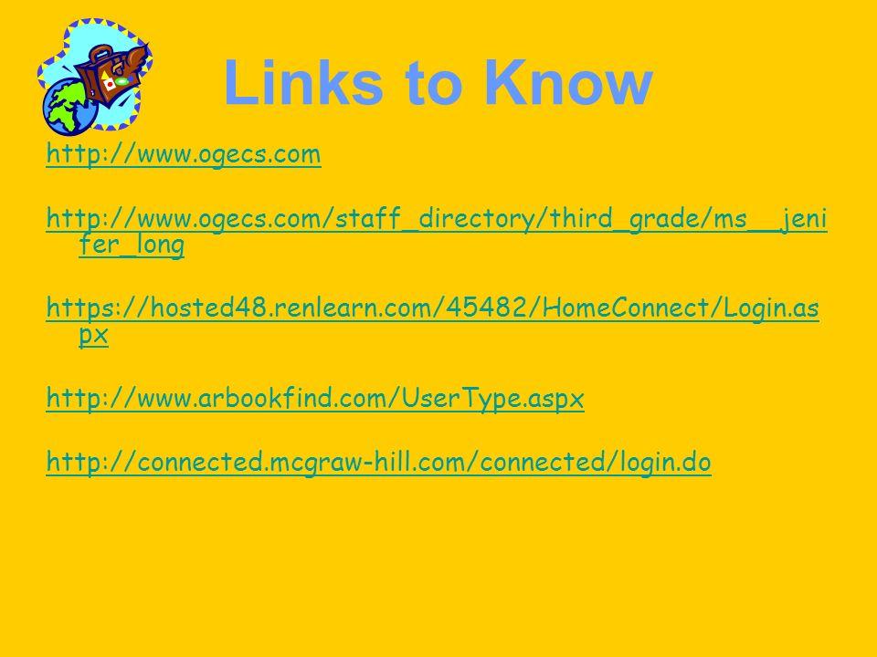 Links to Know http://www.ogecs.com