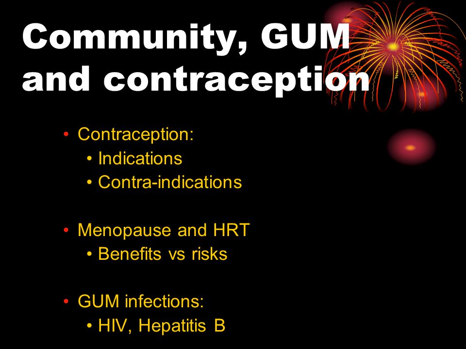 Community, GUM and contraception