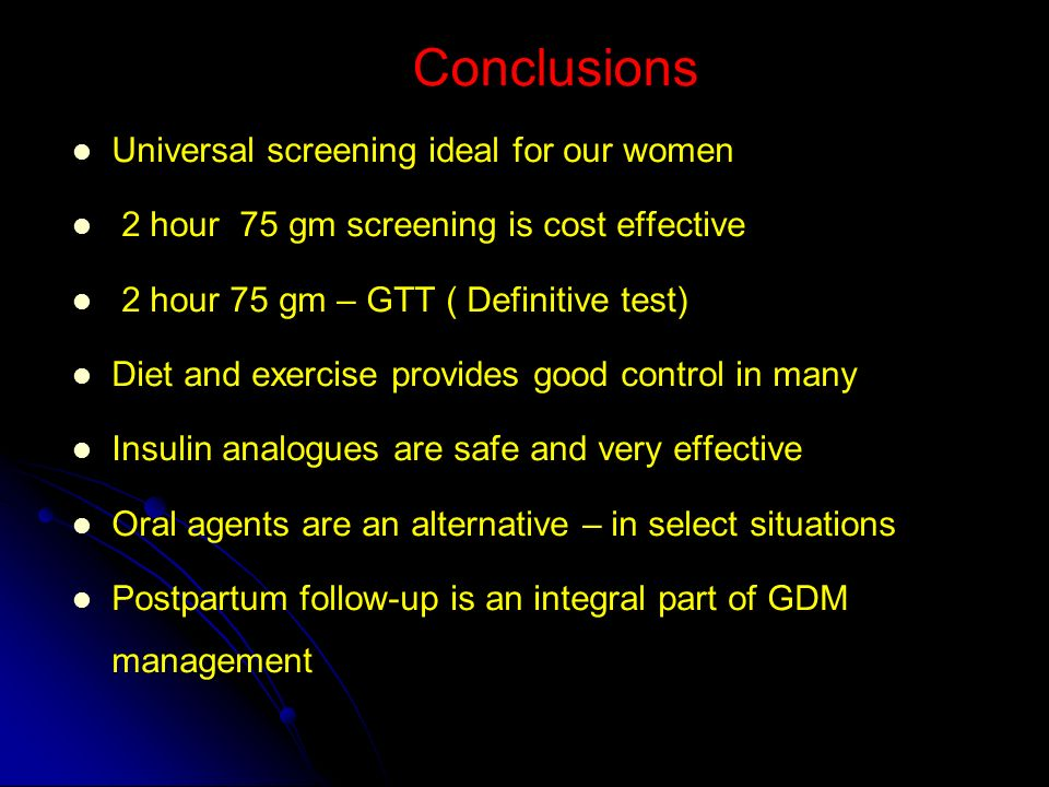Conclusions Universal screening ideal for our women