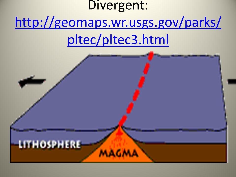 Divergent: http://geomaps.wr.usgs.gov/parks/pltec/pltec3.html