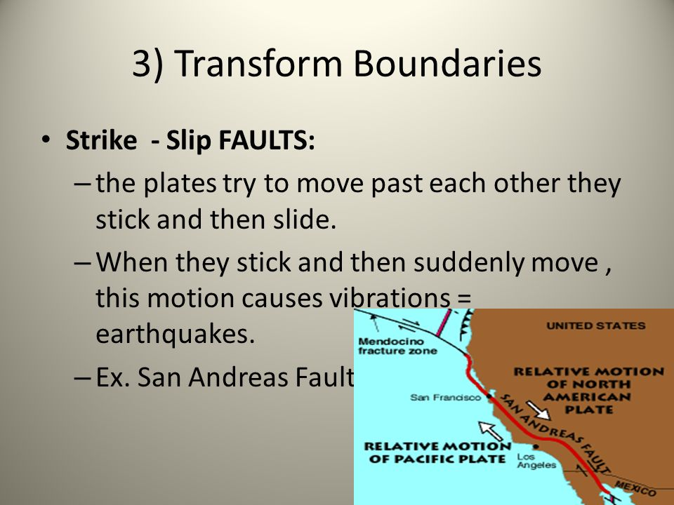 3) Transform Boundaries
