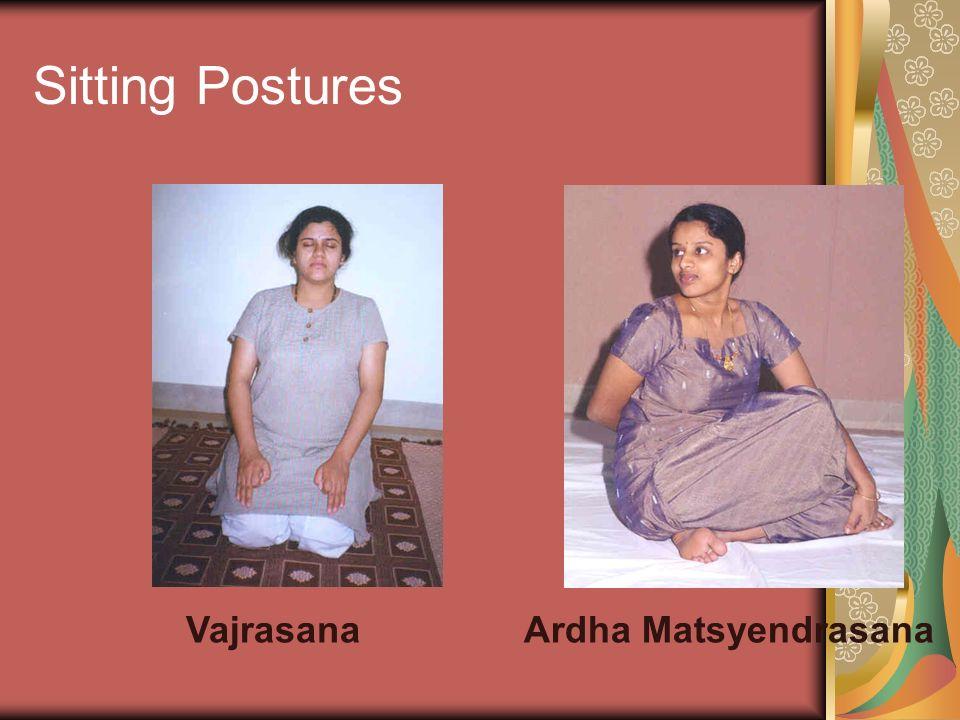 Sitting Postures Vajrasana Ardha Matsyendrasana
