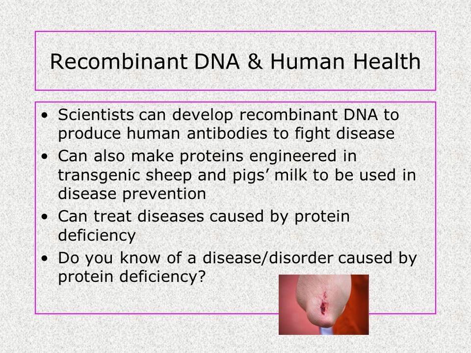 Recombinant DNA & Human Health
