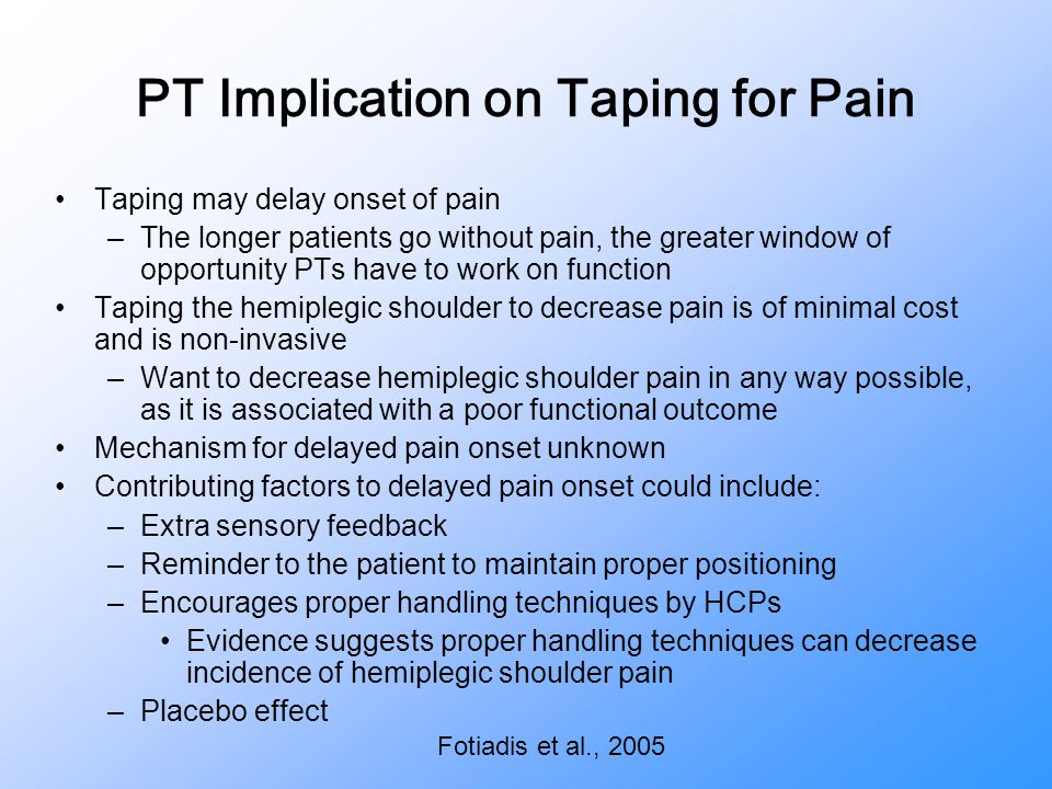 PT Implication on Taping for Pain