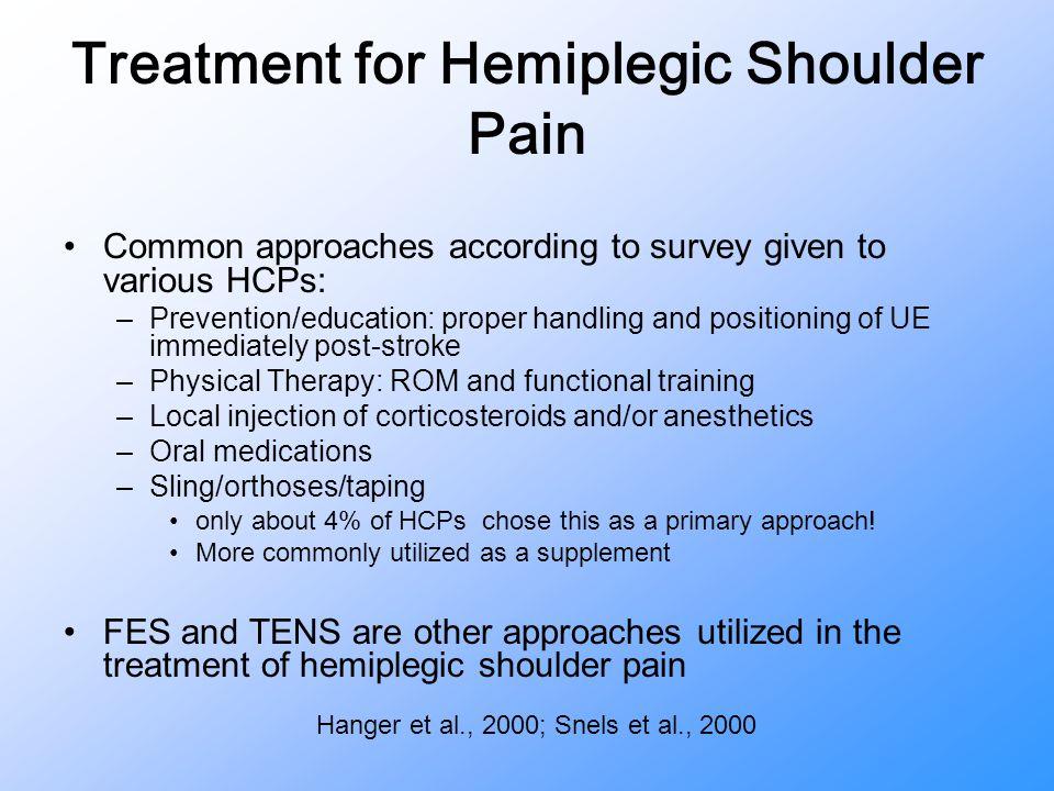 Treatment for Hemiplegic Shoulder Pain