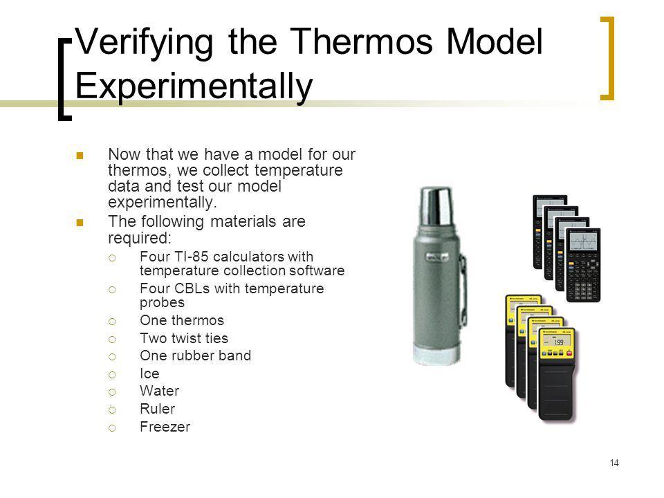 Verifying the Thermos Model Experimentally
