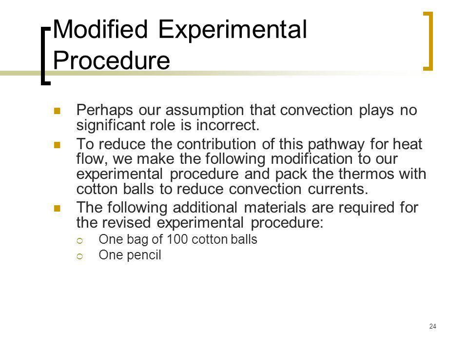 Modified Experimental Procedure