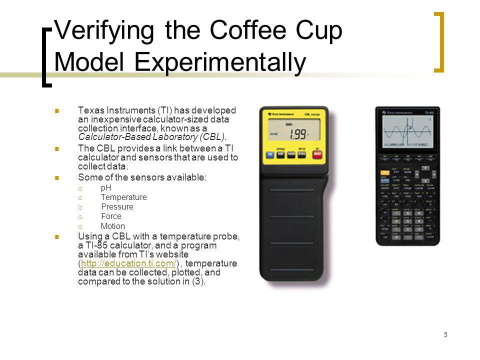 Verifying the Coffee Cup Model Experimentally
