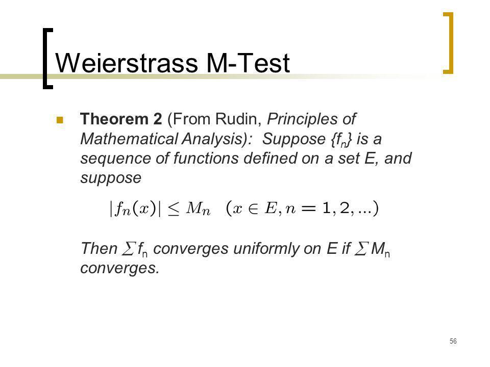 Weierstrass M-Test