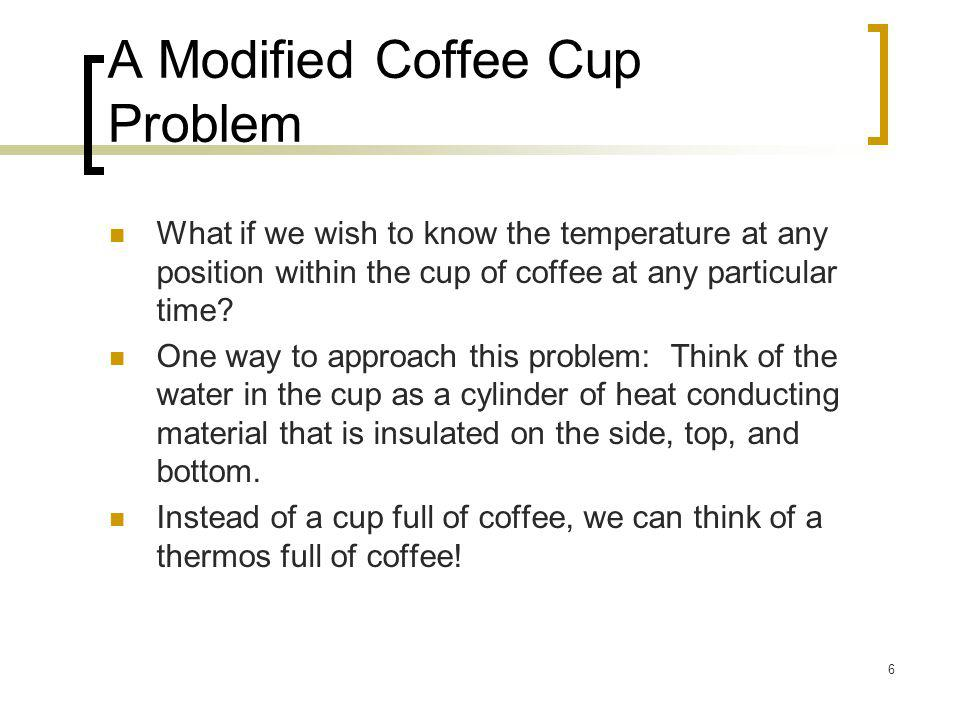 A Modified Coffee Cup Problem