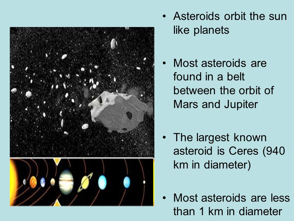 Asteroids orbit the sun like planets