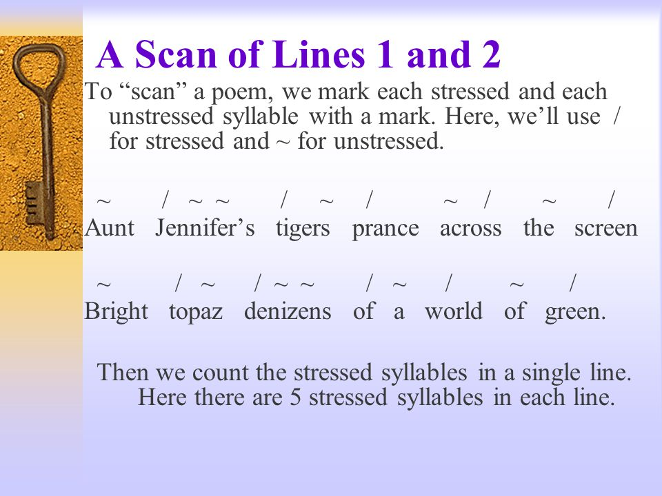 A Scan of Lines 1 and 2
