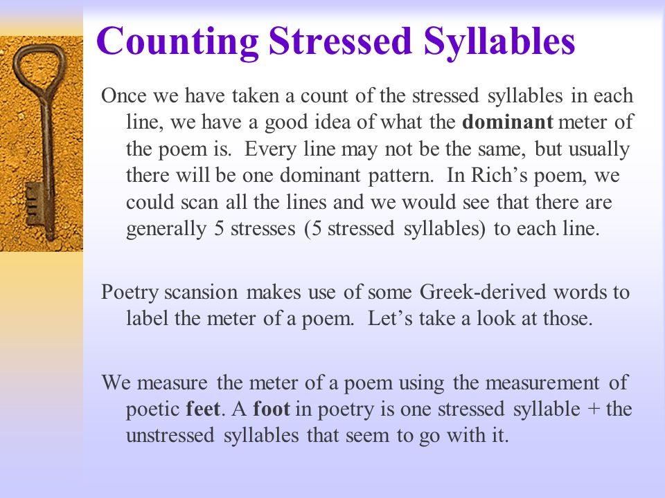 Counting Stressed Syllables