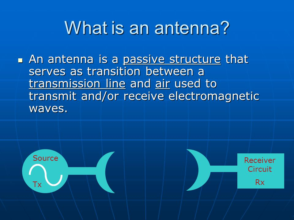 Dr. S. X-Pol What is an antenna