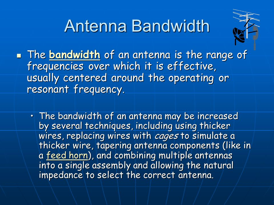 Dr. S. X-Pol Antenna Bandwidth.