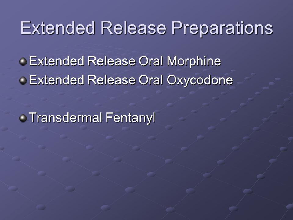 Extended Release Preparations