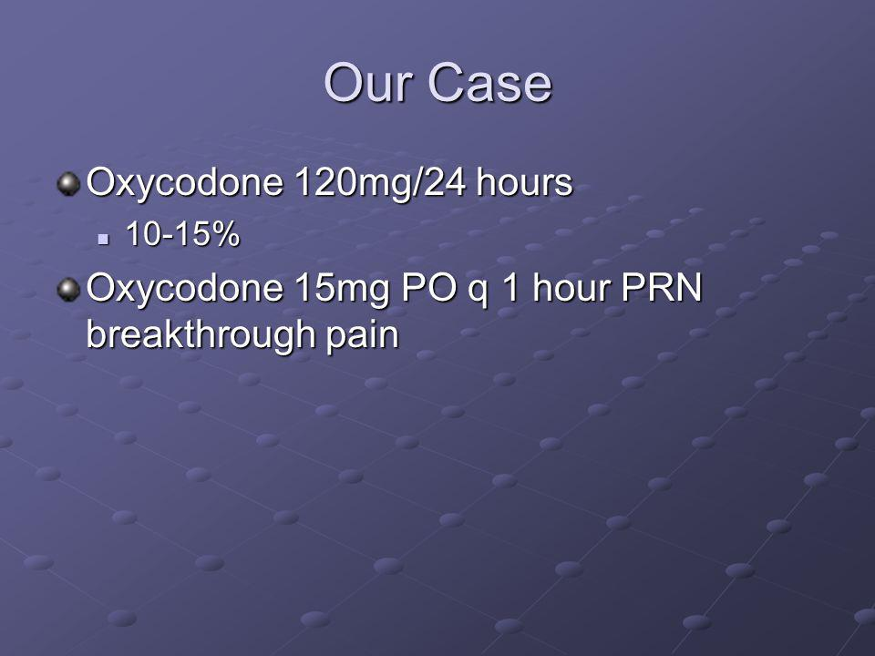 Our Case Oxycodone 120mg/24 hours