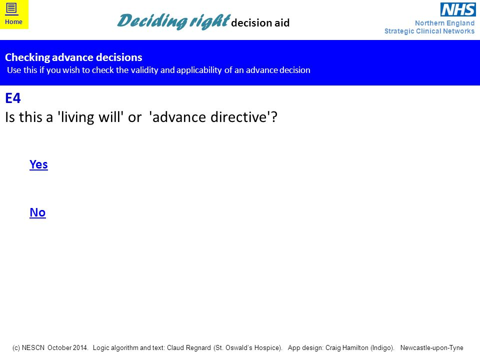 Is this a living will or advance directive
