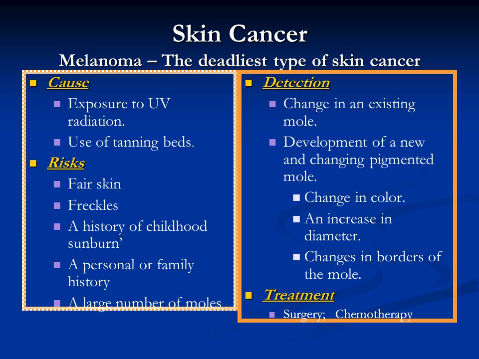 Skin Cancer Melanoma – The deadliest type of skin cancer