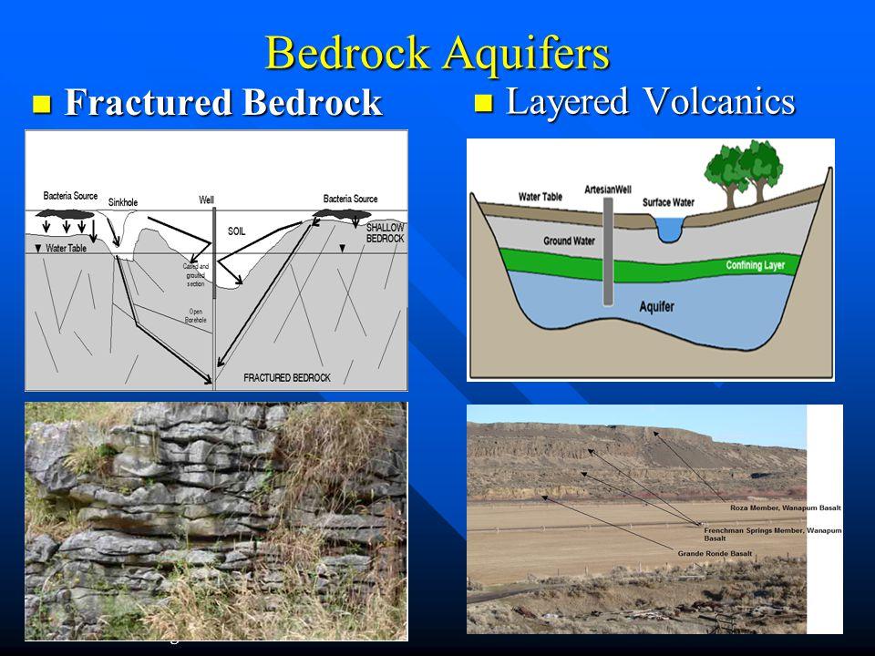 Bedrock Aquifers Fractured Bedrock Layered Volcanics
