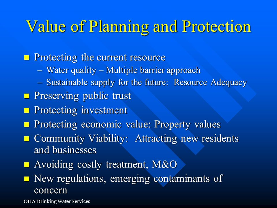 Value of Planning and Protection