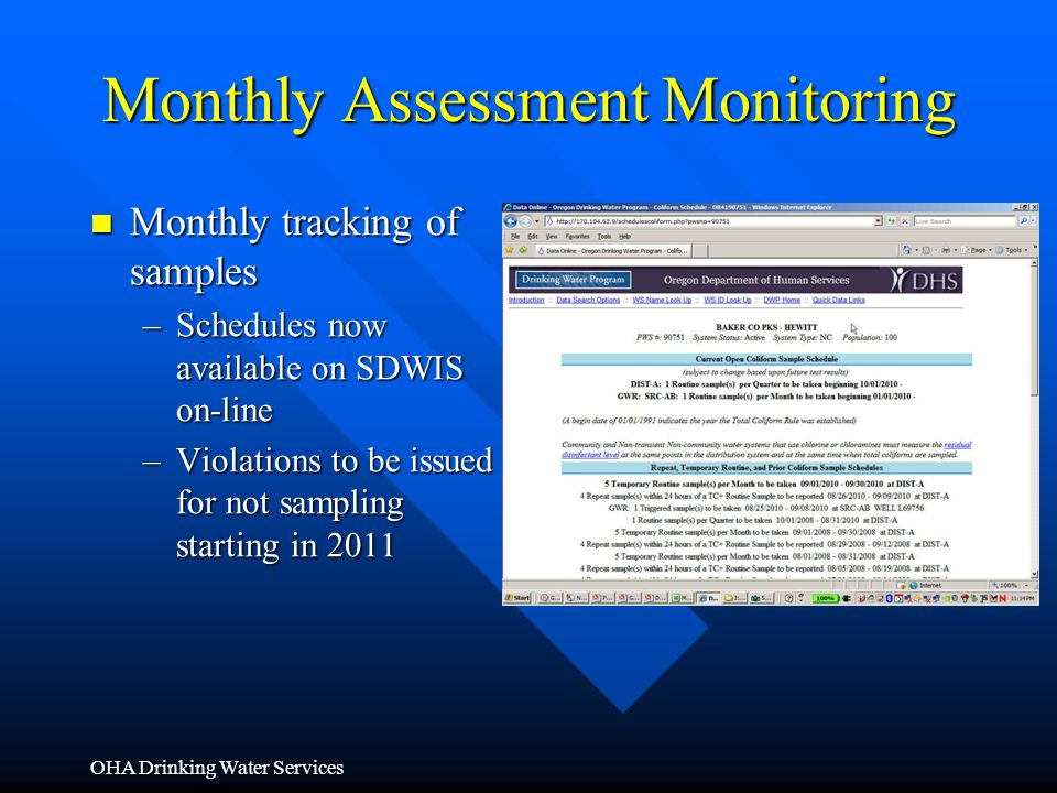 Monthly Assessment Monitoring