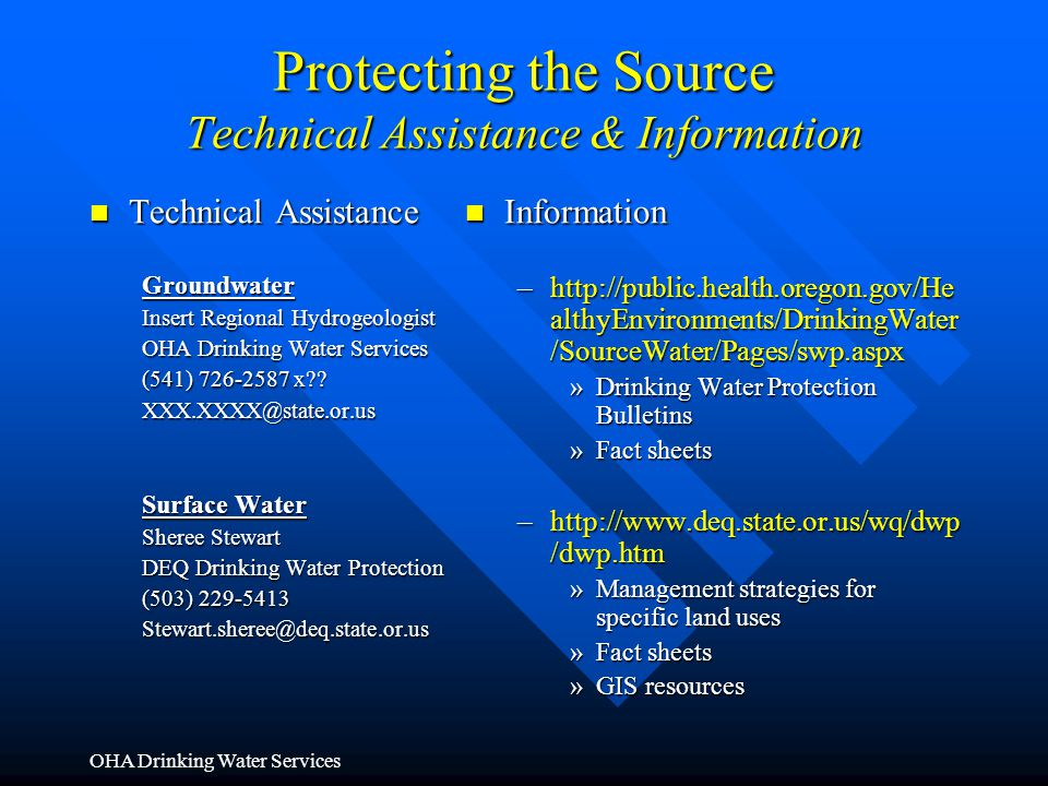 Protecting the Source Technical Assistance & Information