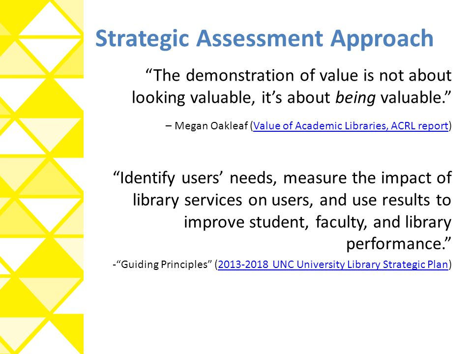 Strategic Assessment Approach