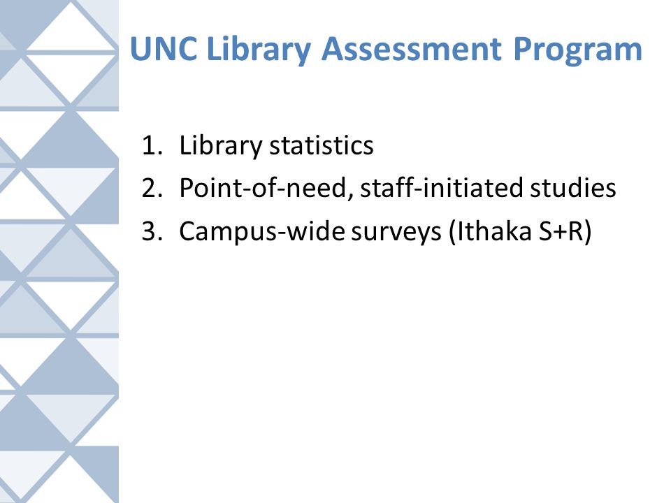 UNC Library Assessment Program