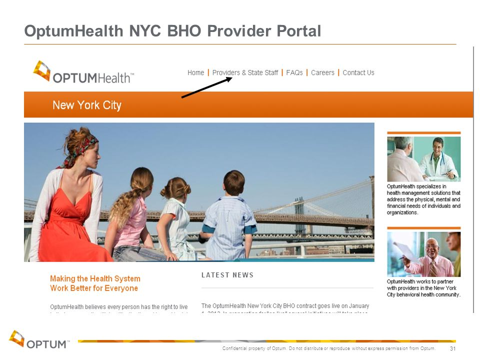 OptumHealth NYC BHO Provider Portal