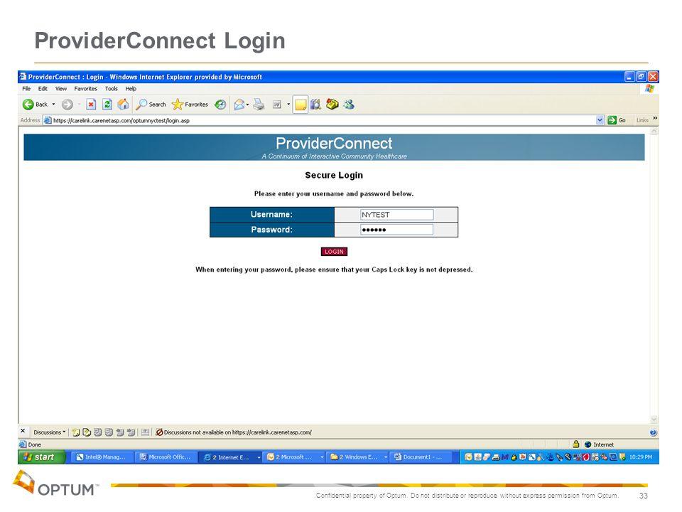 ProviderConnect Login