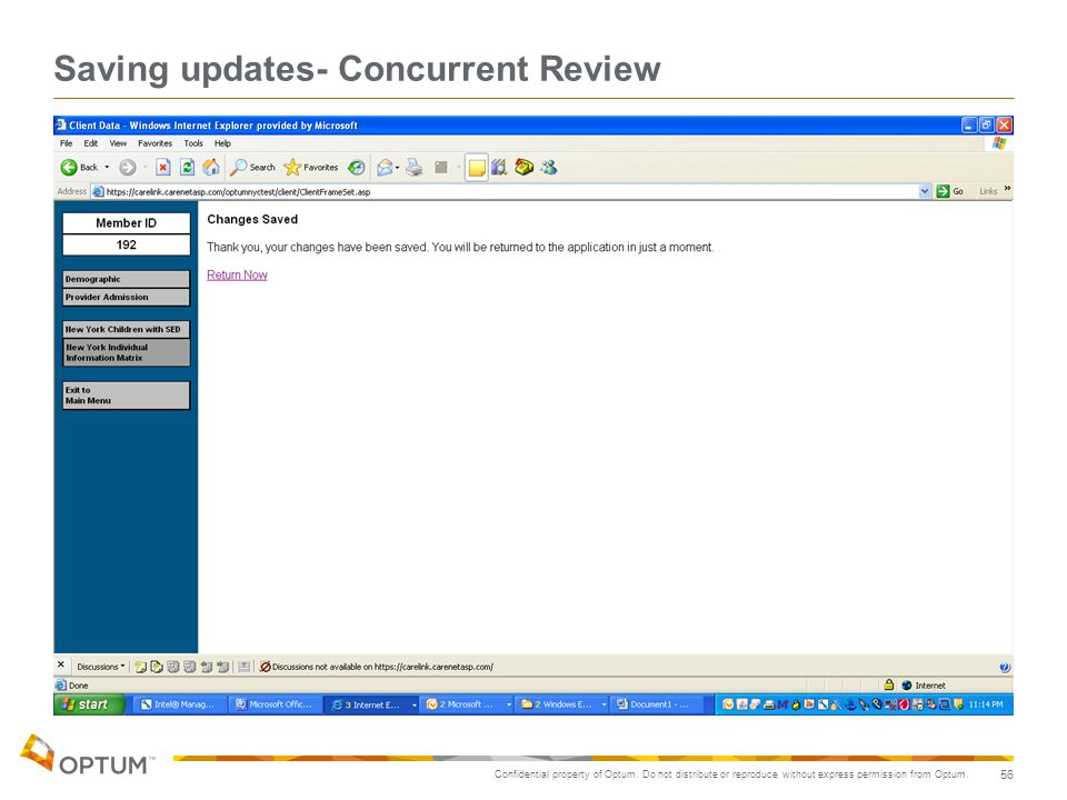 Saving updates- Concurrent Review